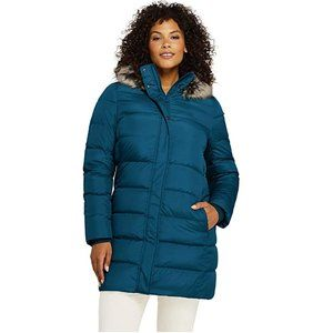 Lands' End Winter Long Down Coat with Hood Small